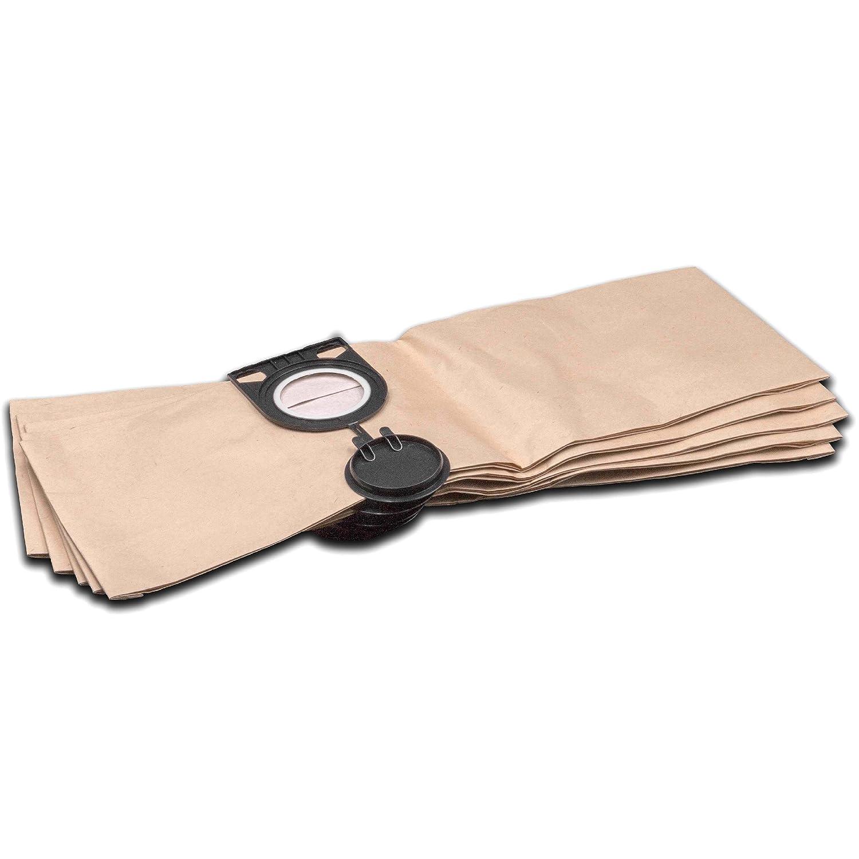 vhbw 5 Staubsaugerbeutel Filtertü ten aus Papier fü r Staubsauger Saugroboter Mehrzwecksauger Metabo AS 1200, AS 20 L, AS 8520, ASA 1201