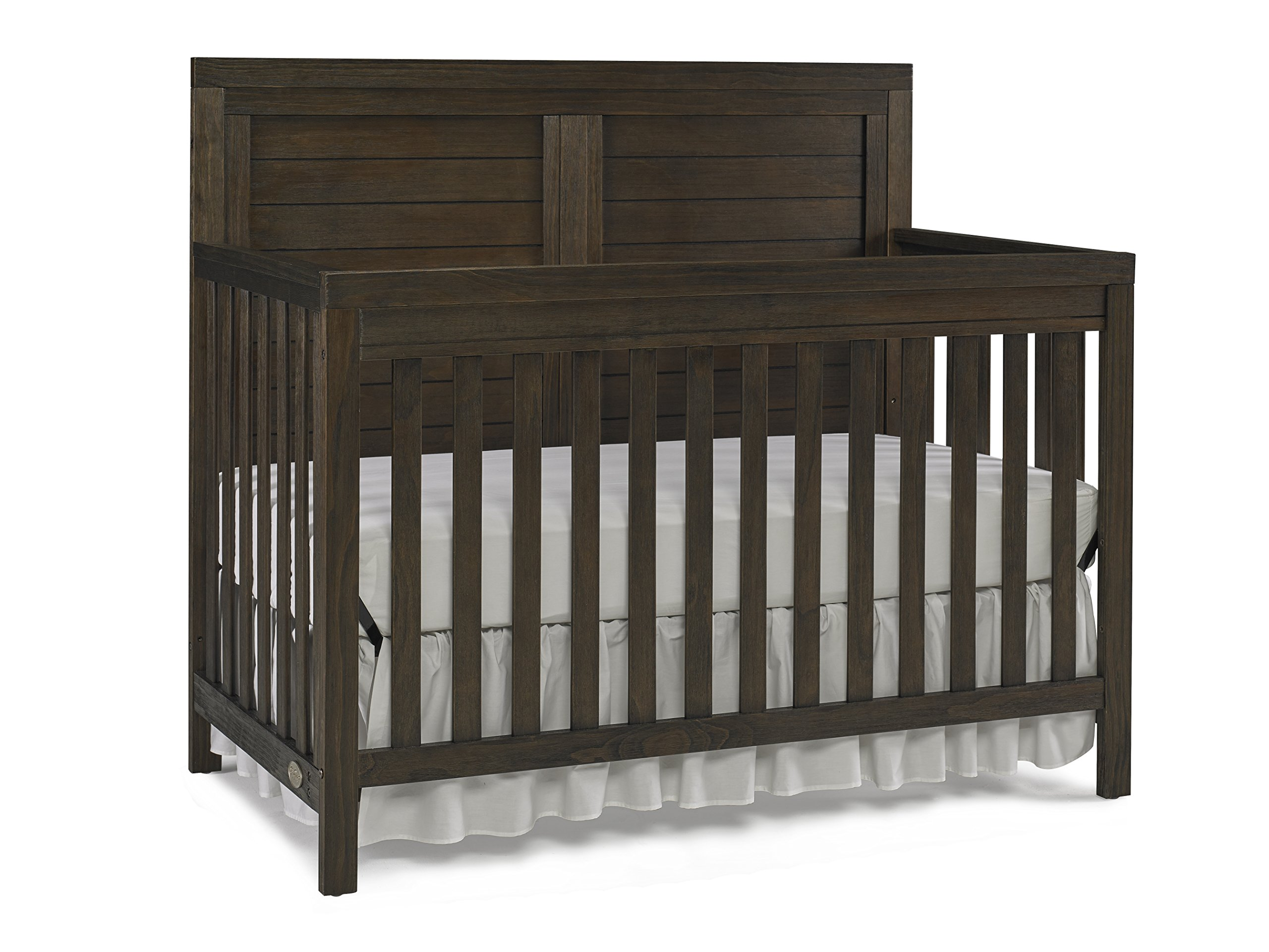 Ti Amo Castello 4 in 1 Convertible Crib, Wire Brushed Brown
