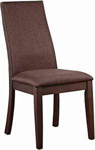 Coaster 106582-CO Upholstered Dining Side Chair, Cocoa Brown