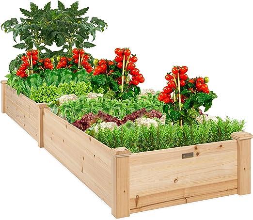 Mejor elección productos vegetales Raised Garden Bed Patio jardín crecer flores elevada Planter: Amazon.es: Jardín