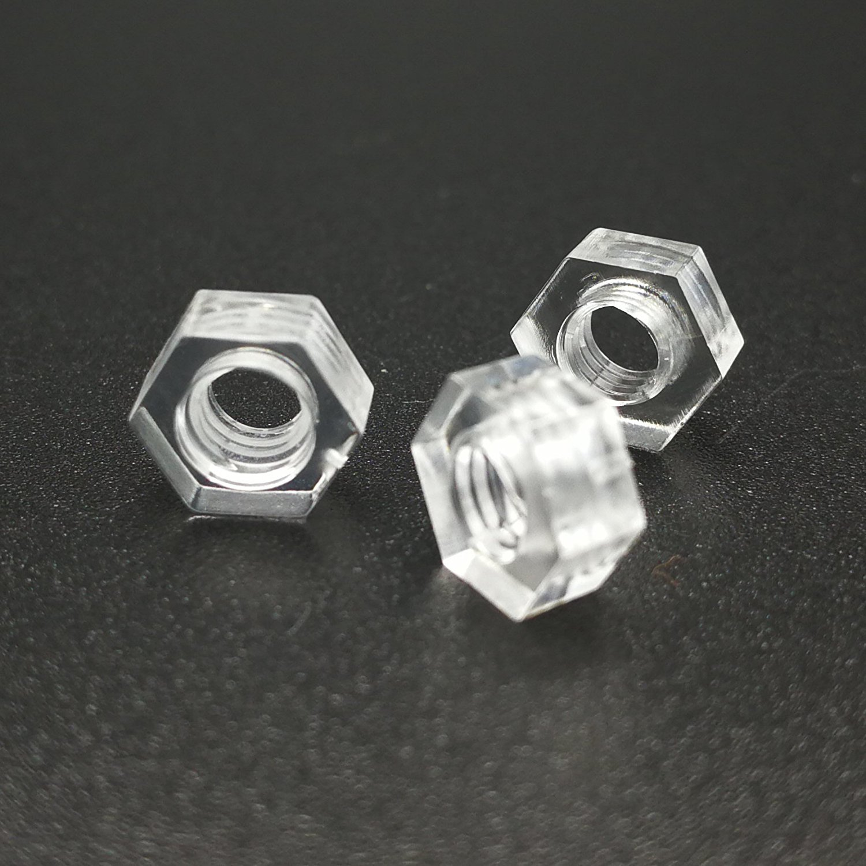 M3x10mm Karcy Hardware Transparent Acrylic Hex Nut Bolt and Screws Set 200Pair