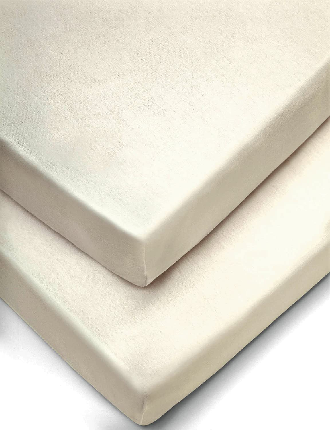 Cream 2X Cot Bed Fitted Sheets Polycotton by Sasa Craze Bedding
