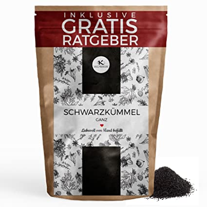 Comino negro semillas de Comino negro, purificado 100g I Especias aromáticas de cocina I Especias