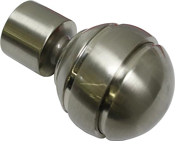 2 embouts cylindre Blanc M/étal S/érie Chicago Diam/ètre: 20 mm GARDINIA Embouts pour tringle /à rideau