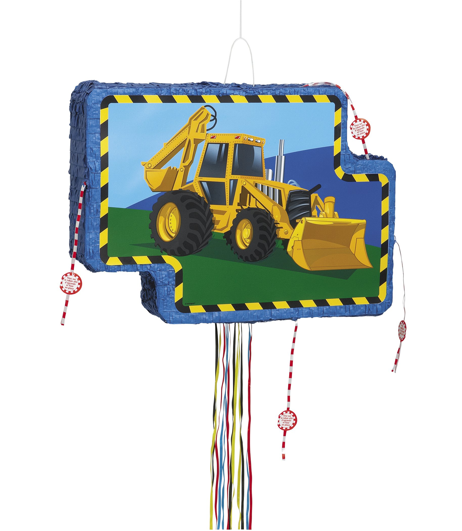 Construction Truck Pinata, Pull String