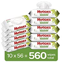 Deals on 560-Ct Huggies Natural Care Sensitive Baby Wipes Unscented