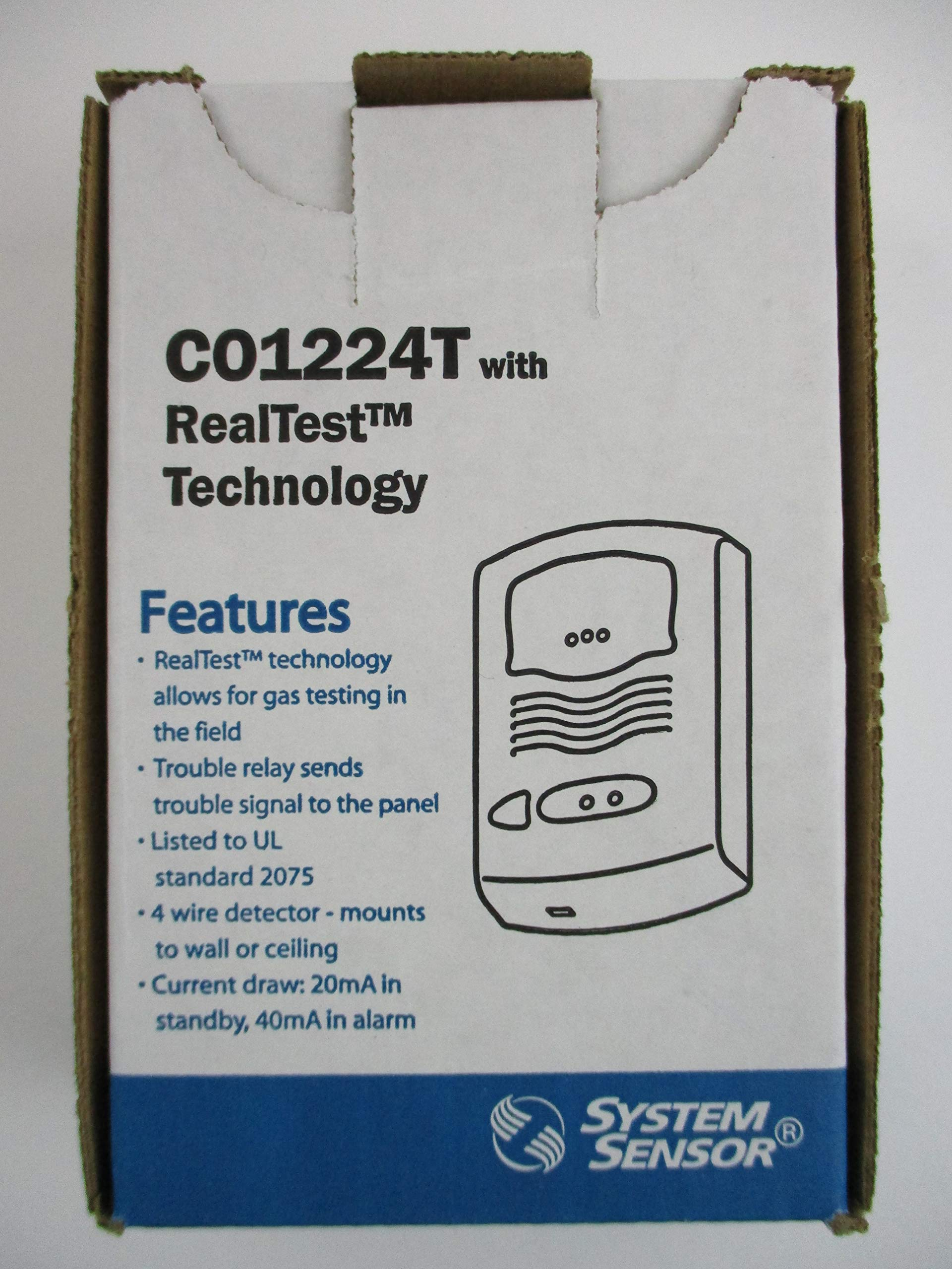 SYSTEM SENSOR CO1224T12/24 volt, 4-wire, system-monitored C02 carbon monoxide detector with RealTest Technology