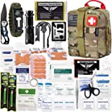 EVERLIT 250 Pieces Survival First Aid Kit IFAK Molle System Compatible Outdoor Gear Emergency Kits Trauma Bag for Camping Boa