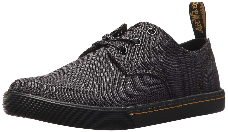 Dr.Martens Womens Santanita 3-Eyelet Textile Shoes 38 EU|Black