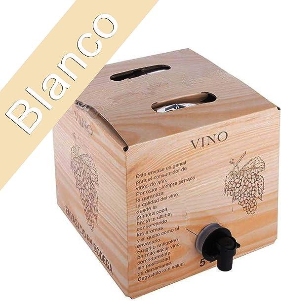 Bag in Box 5L Vino Blanco Joven Bodega Los Corzos: Amazon.es: Alimentación y bebidas