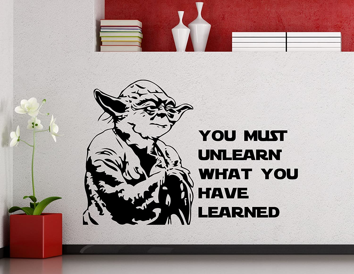 Amazon Star Wars Wall Vinyl Decal You Must Unlearn What You