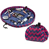 "Lay-n-Go COSMO Plus (21"") Cosmetic Bag, Chevron Pink"