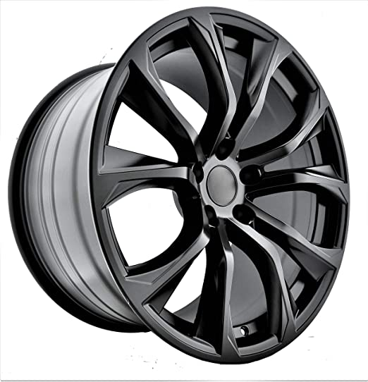 Amazon Com 22 Inch Staggered Black Wheels Rims Full Set Of 4 Fit