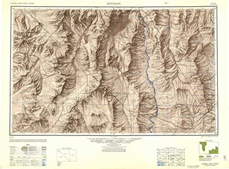 Map Of Arizona Kingman.Amazon Com Yellowmaps Kingman Az Topo Map 1 250000 Scale 1 X 2