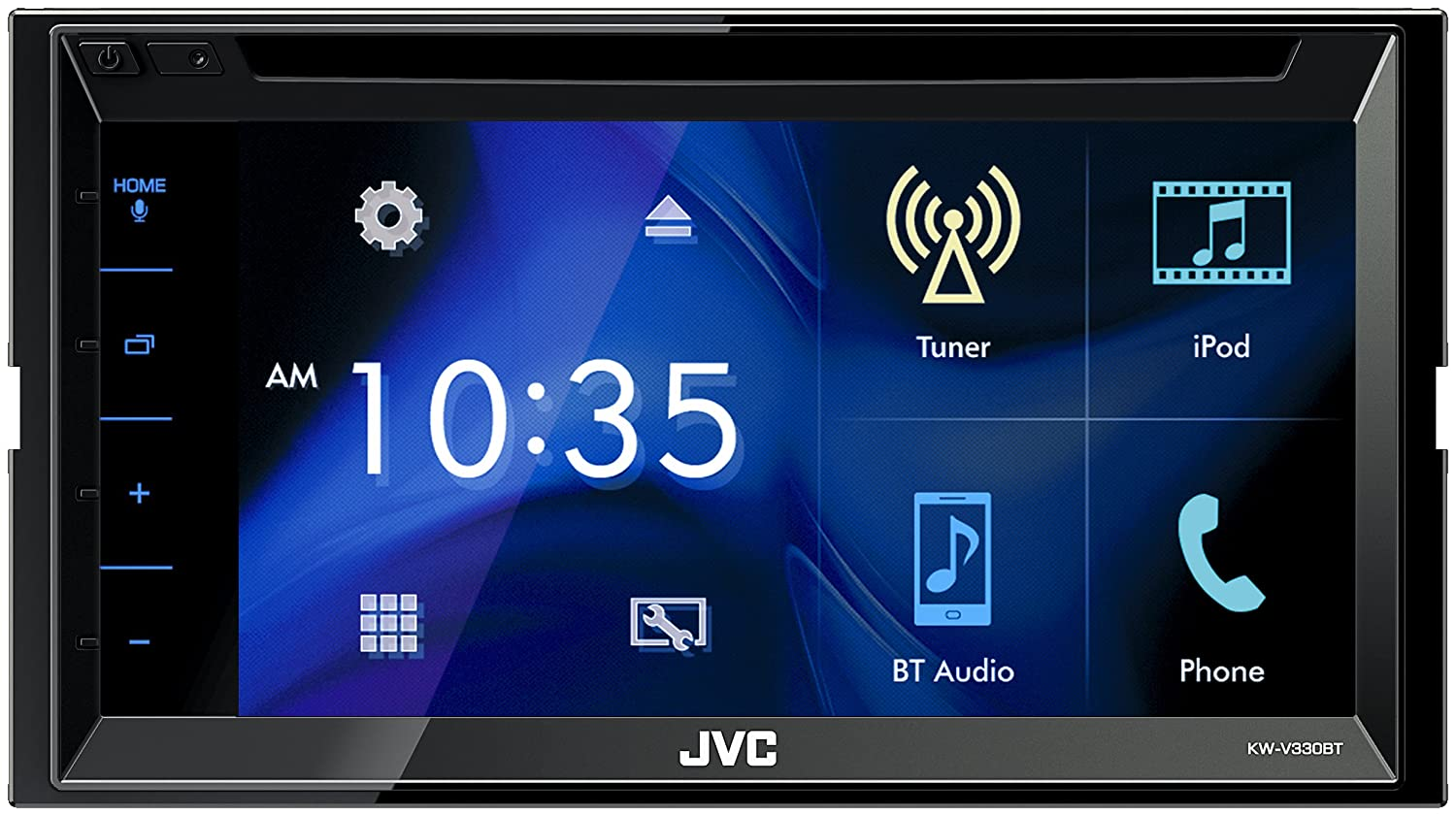 JVC KW-V330BT Multimedia Receiver Featuring 6.8 Clear Resistive Touch Panel//iDataLink Maestro Ready//Bluetooth //13-Band EQ