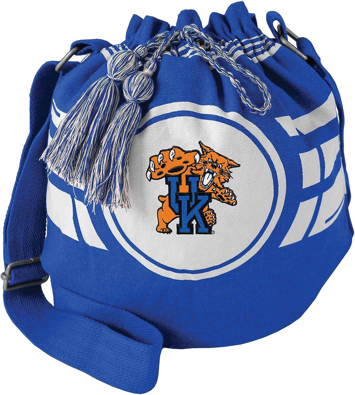 Littlearth NCAA Womens Ripple Drawstring Bucket Bag