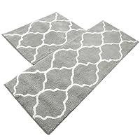 Kitchen Mat, U'Artlines Decorative Non-Slip Microfiber Doormat Bathroom Mats Shower Rugs for Living Room Floor Mat