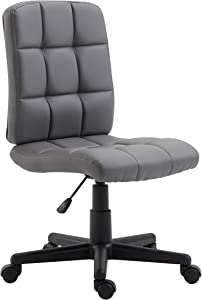 Poly and Bark Eva Task Chair in Vegan Leather, Grey
