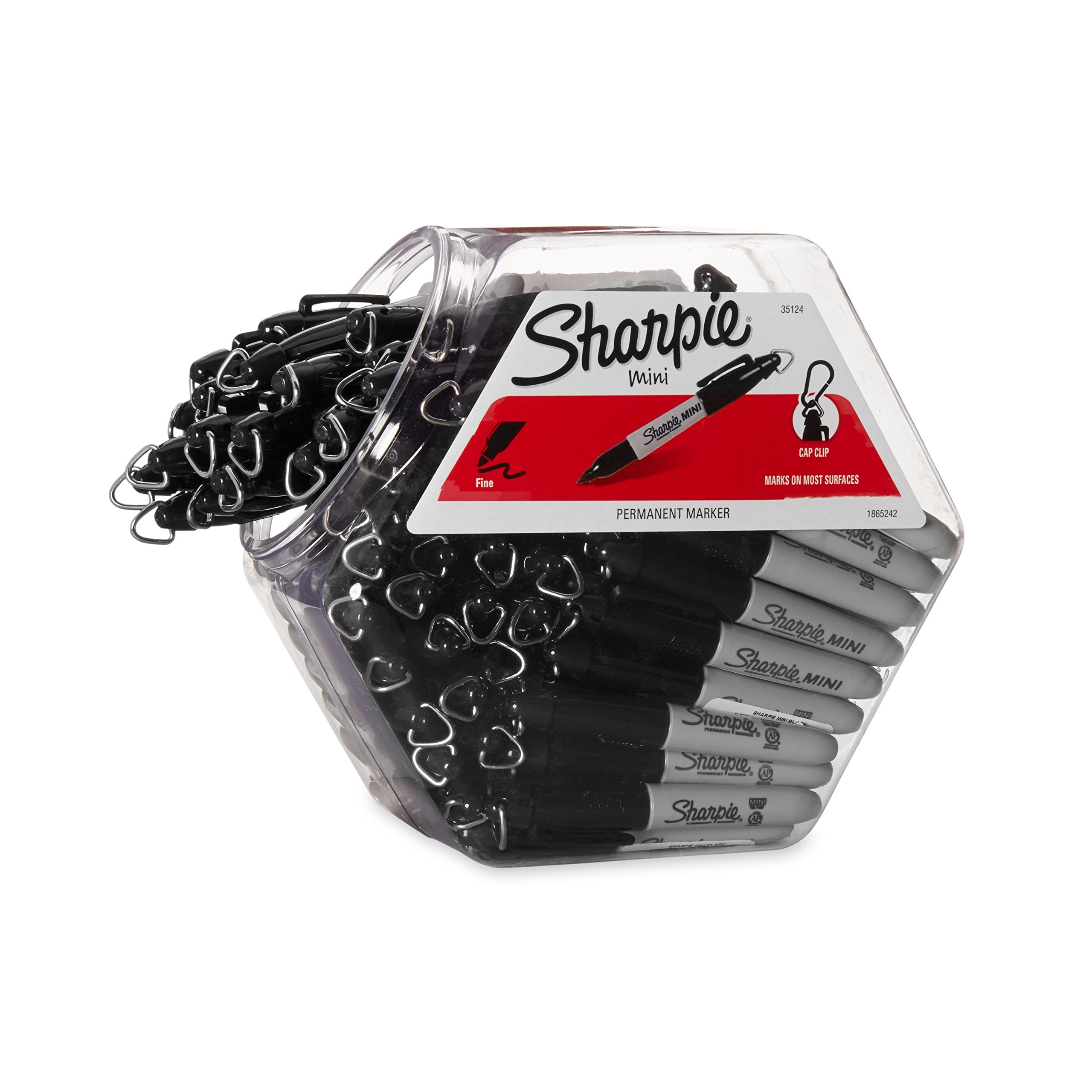 Sharpie Permanent Markers, Fine Point, Black, 72-Pack Canister