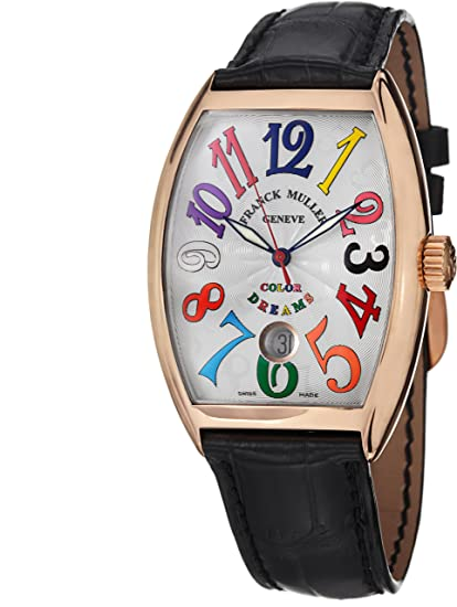 ad586e5143c32 Franck Muller Cintrée Curvex Date Color Dreams Rose Gold Automatic Watch  7851 SC DT COL DRM 5N: Franck Muller: Amazon.ca: Watches