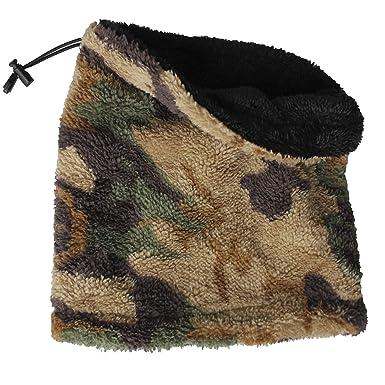 ceb36d35f4b5 FERETI Desert Écharpe Tubes Ronde Camouflage Airsoft Combat Tube Cou  Militaire Circulaire Teddy Noir Multi  Amazon.fr  Vêtements et accessoires