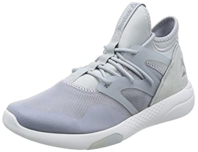afd462d6a6d9 Reebok Women s Hayasu Grey Slvr Wht Ele Flash Dance Shoes - 3 UK
