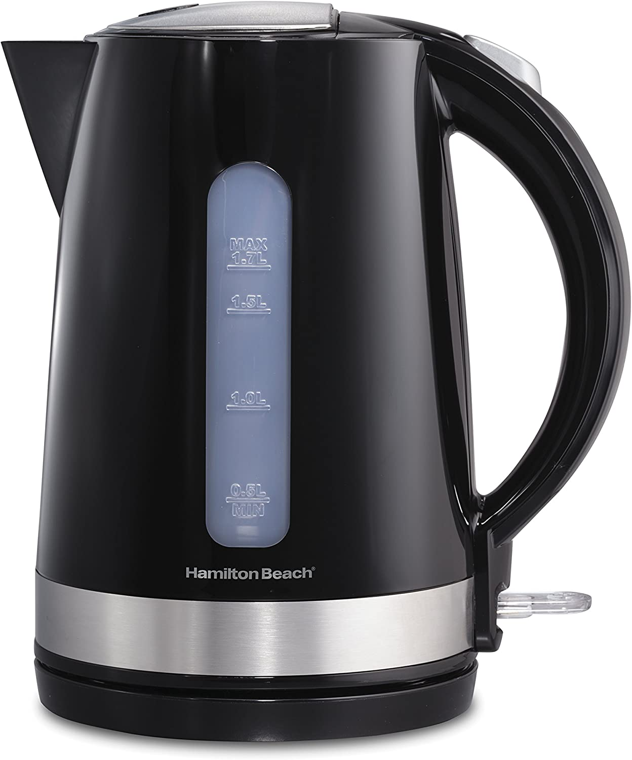 Hamilton Beach 1.7 Liter Electric Kettle for Tea and Water, Cordless, Auto-Shutoff and Boil-Dry Protection, Black 41010