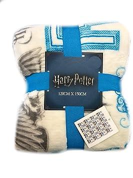 Primark Harry Potter Manta Slytherin Ravenclaw Gryffindor Hufflepuff Manta Cama Manta Cubierta 125cm X 150cm - Ravenclaw: Amazon.es: Hogar