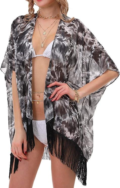 Spring Stylish Womens OneSize Plus Lightweight Comfy Robe Reef Kimono Bohemian Mandala Sarong Turquoise Fall Summer Beach