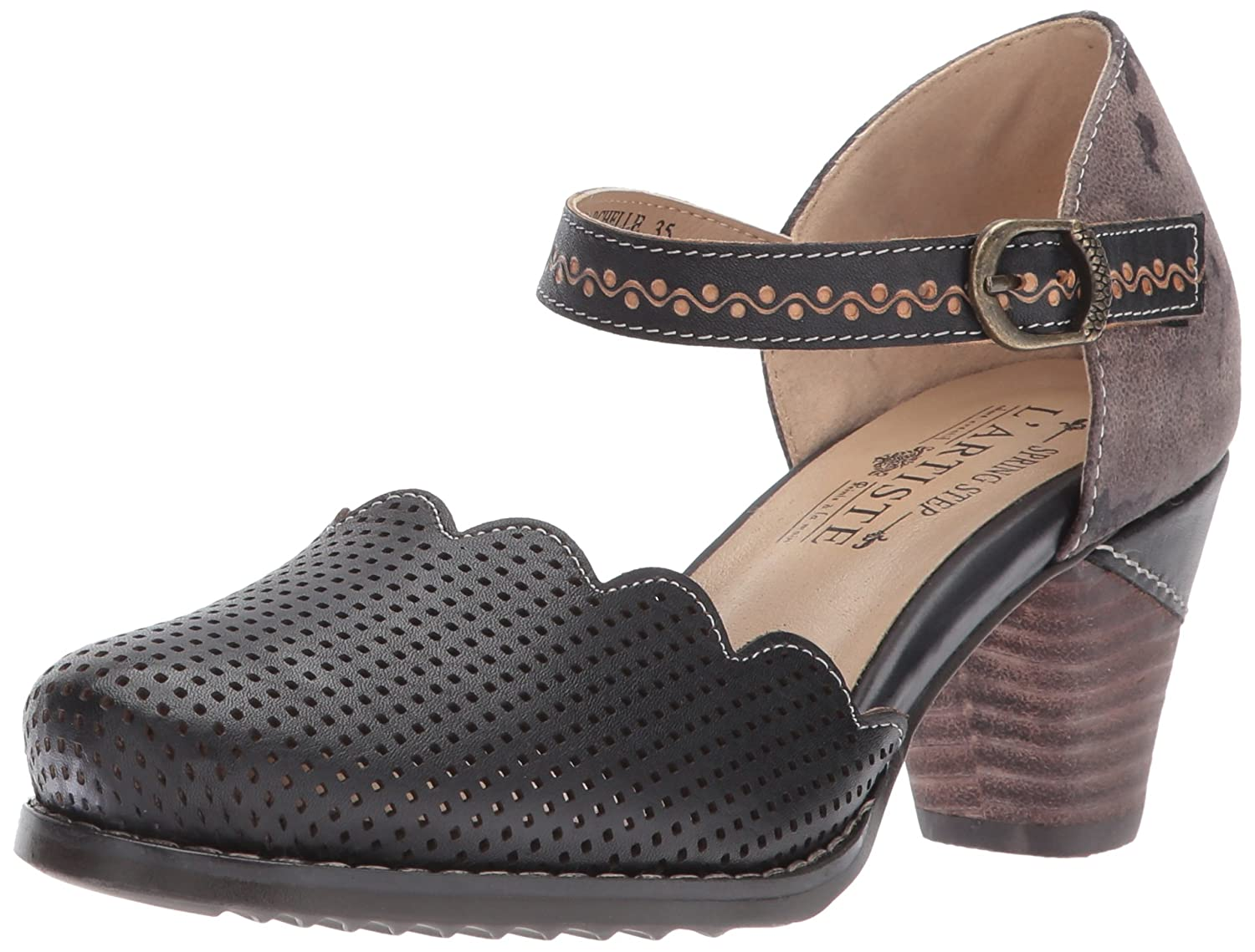 L'Artiste by Spring Step Women's Parchelle Mary Jane Flat B06XKQ63FW 38 EU/7.5 - 8 M US|Black