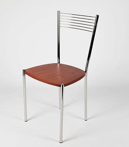 Set 4 sedie per cucina e sala da pranzo moderne,con robusta ...