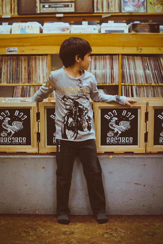 Mini Shatsu Big Boys Biker Rebel T-Shirt