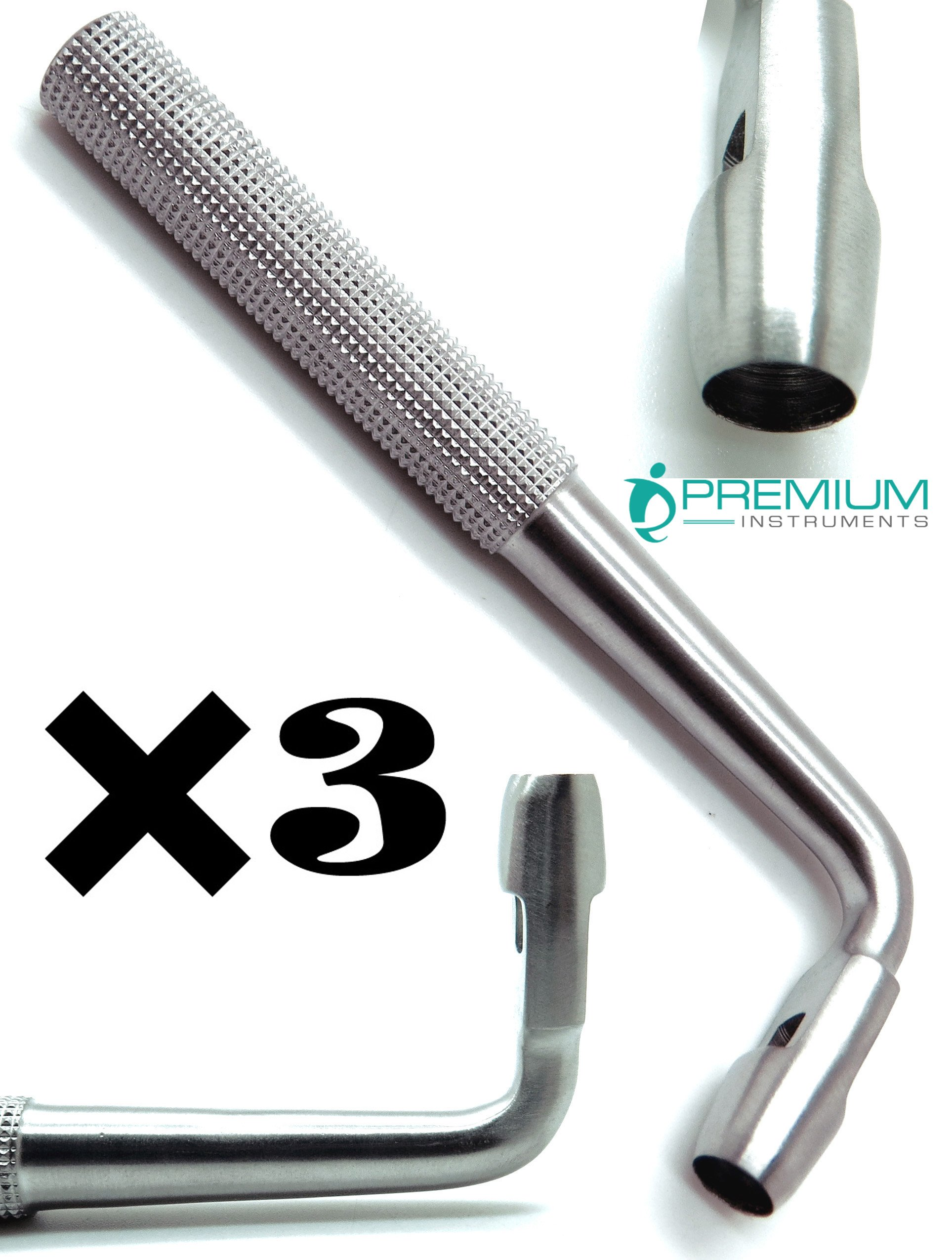 3× Dental Tissue Punch Angled 6mm Surgical Implant Stainless Steel Instruments