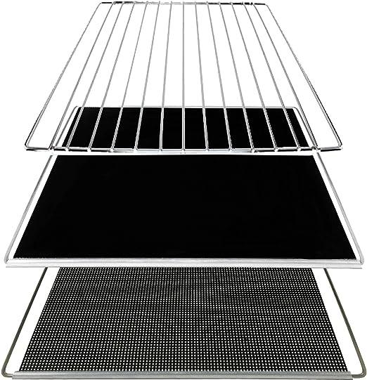 UNIVERSAL Oven Liner Shelf Extendable Baking Sheet Drip Tray Rack Burn Guards