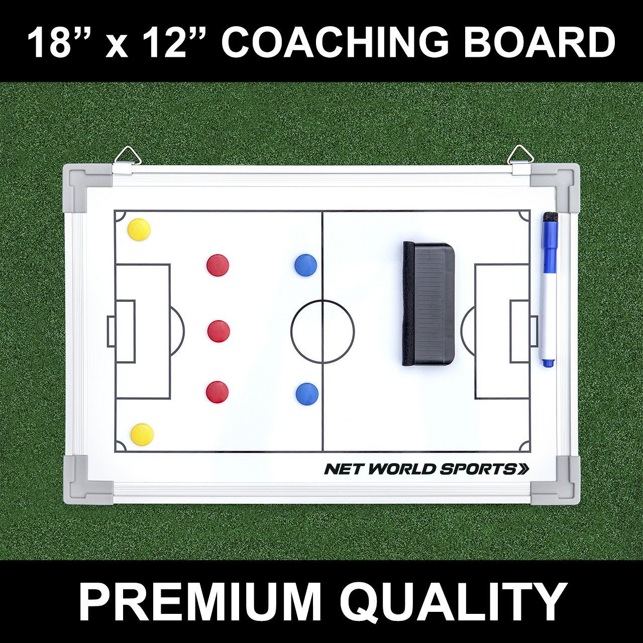 Soccer Tactics/Coaching Board 18in x 12in [Net World Sports]