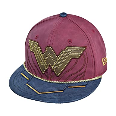 New Era Wonder Woman Battle Armor 59Fifty Unisex Fitted Hat Cap ... bef90a9403e7