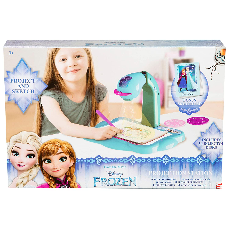 SAMBRO- Frozen Proyector Portátil Infantil, Color Azul (648022)
