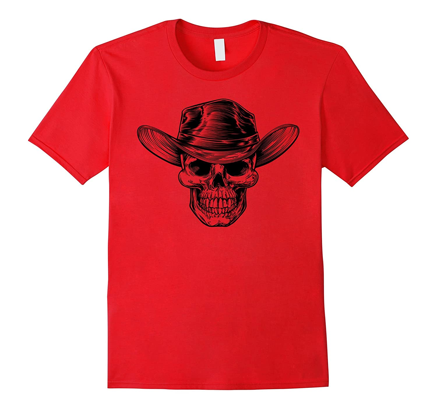 Cowboy Skull Halloween Day Of The Dead Scary T-Shirt-Art