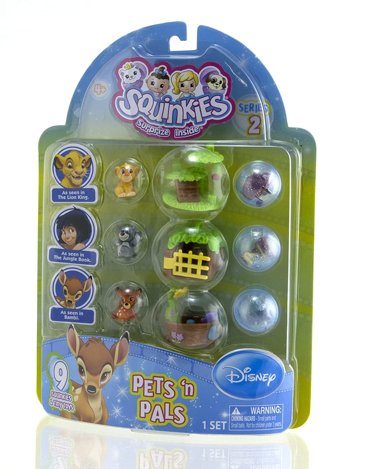 amazon com squinkies disney pets u0027n pals bambi lion king and