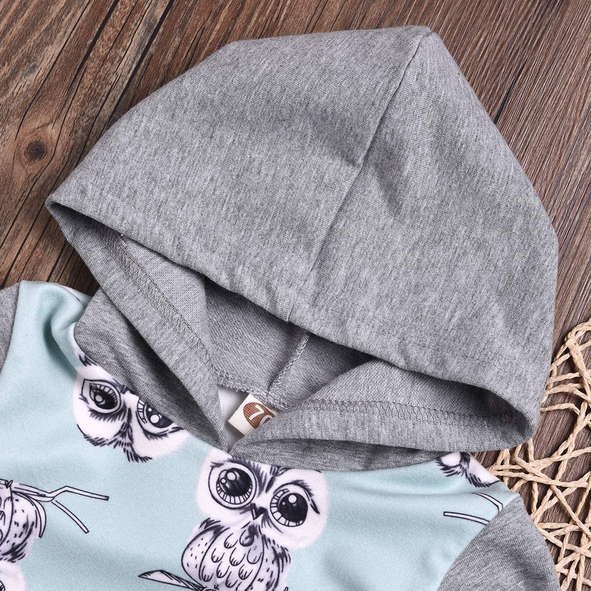 Chennie Boy Hoodis Suit Kid Toddler Boy Owl Printed Hooded Shirt Pants Party Casual Outfits