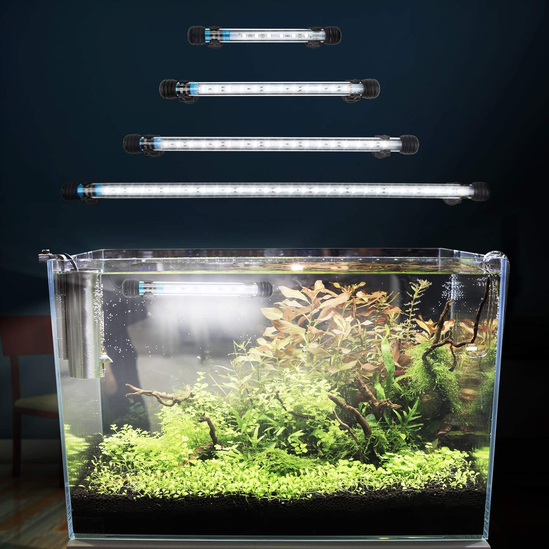 FTALGS lámpara LED de luz bajo el Agua Iluminación de Aufsatz Acuario Tanque Protectora Resistente al Agua Lámpara Conector EU para Pescado con: Amazon.es: ...