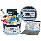 Dad To Be Survival Kit In A Can. Humorous Novelty Fun Gift - New Parent/Father. Baby Shower Present & Card All In One. Customise Your Can Colour. (Blue/Navy)