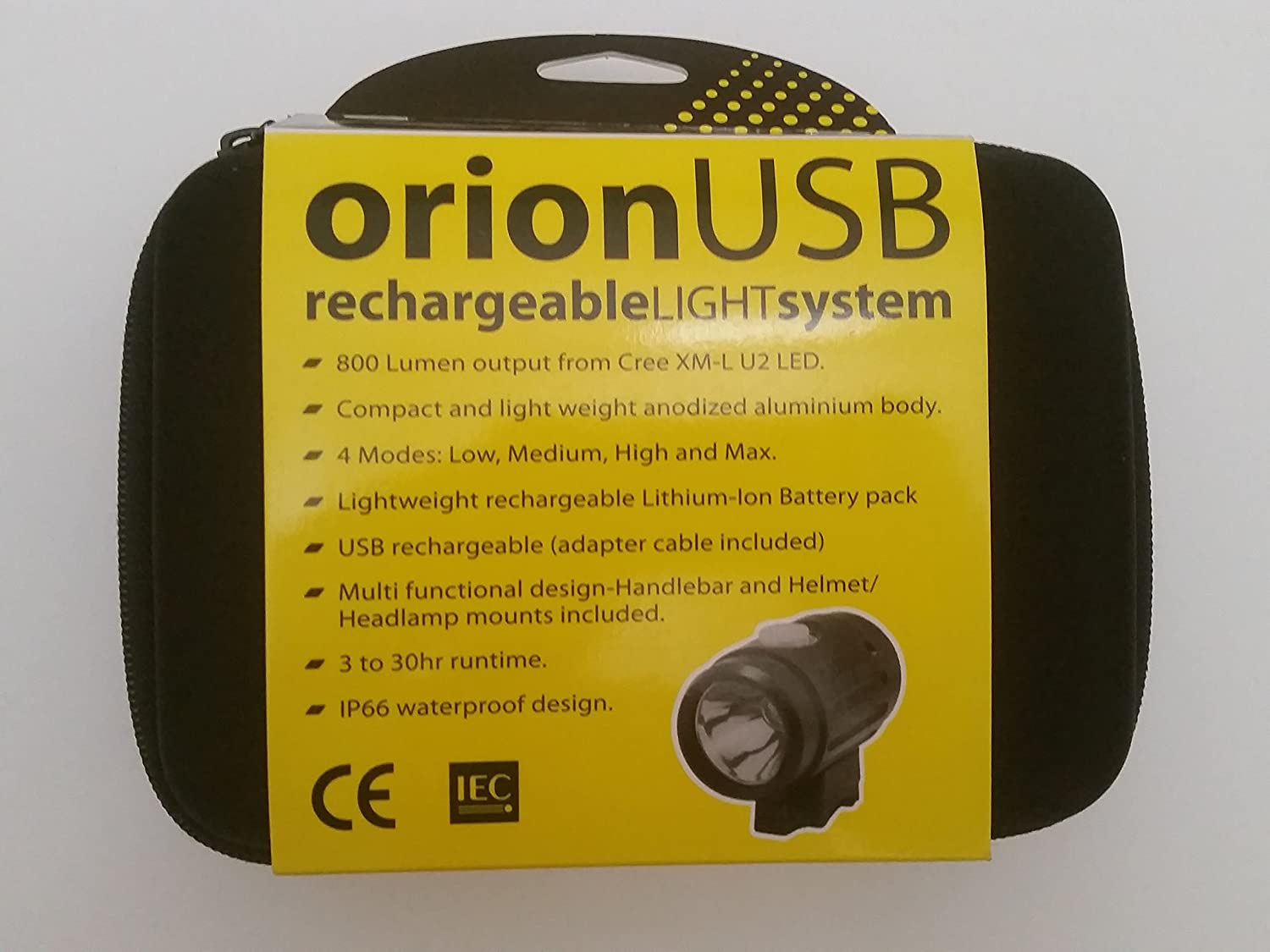 Ryder USB Rechargeable Orion 800-Lumen Bicycle Bike Light Token Products USA RL10035