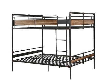 Amazon Com Acme Furniture 37730 Brantley Ii Bunk Bed Sandy Black