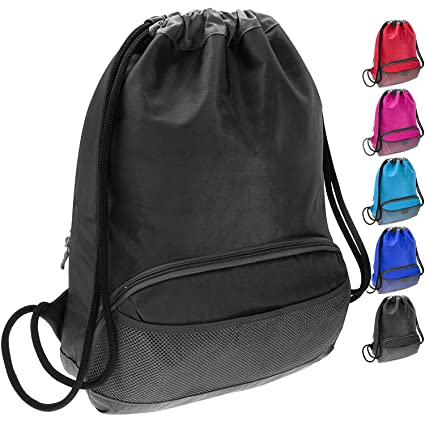 ButterFox Waterproof Fabric Drawstring Swim PE Gym Sports Pool Bag Cinch  Sack Sackpack Backpack for Kids 6e2ce75b0294a