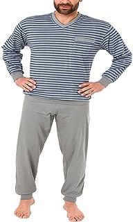 70034f8d97 Edler Herren Pyjama lang mit Bündchen - auch in Übergrössen bis Gr. 70 - 181