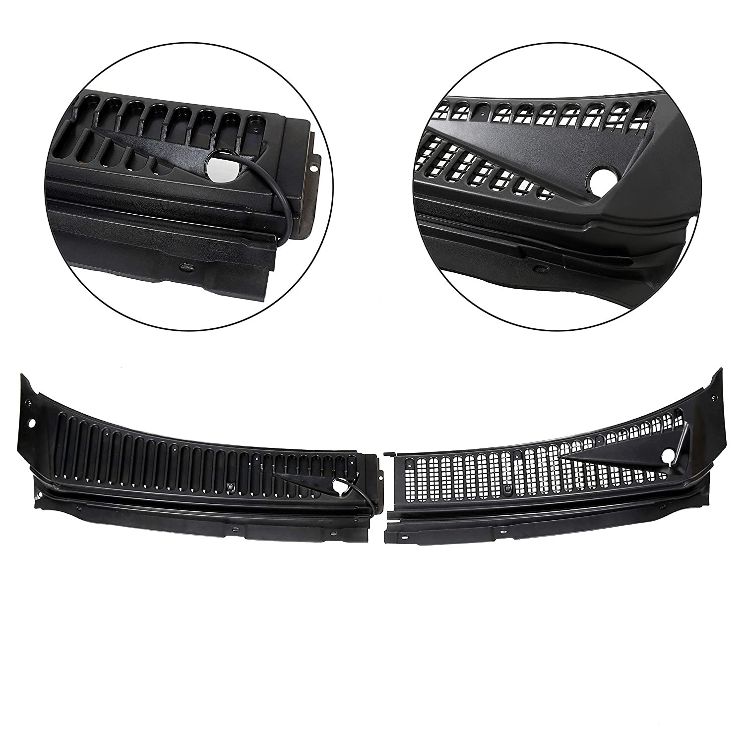 Drive/& Passenger Side JMTAAT Windshield Wiper Cowl Vent Grille Cover Panels for 99-07 Ford F250 F350 2 Pcs