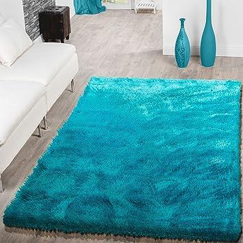 Amazon.de: T&T Design Teppich Wohnzimmer Hochflor Teppiche Modern ...