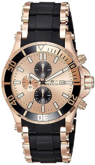 Invicta 1479 - Reloj para hombre color oro rosa/negro: Amazon.es: Relojes