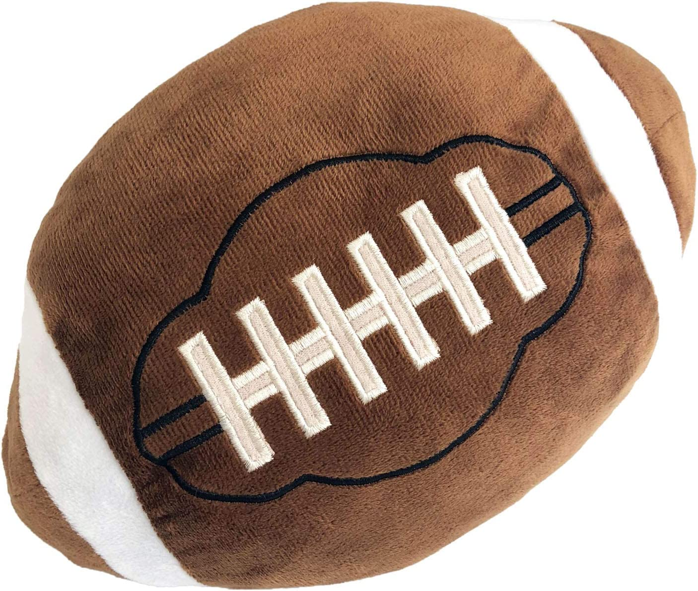 CHORONMO Football Plush Pillow Fluffy Durable Football Pillows Stuffed Football Throw Pillow Soft Sports Ball Interactive Football Creative Room Decorations Birthday Party Gift for Kids 11 Inches